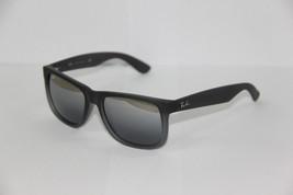 Ray Ban Sunglasses 4165 Justin 852/88 Grey Mirrored Lenses New 100 %Orig... - $89.49