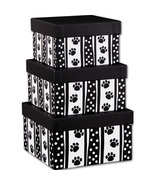 Polka Dot Paws 3-Piece Nested Square Box Sets - £9.43 GBP