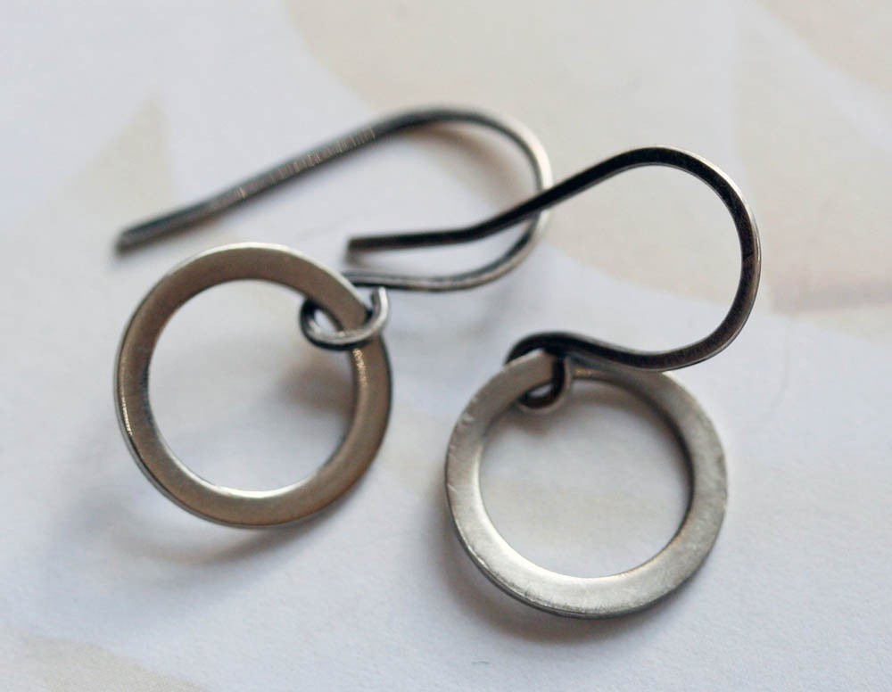 Sterling Hoop Earrings, Small Sterling Hoop Earrings, Everyday Jewelry