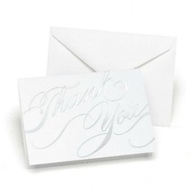 Silver Foil Swirls Thank You Cards With White Envelopes - 100 - $51.95