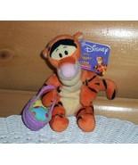 "Winnie Pooh Easter Decorated Eggs Basket Tigger Plush 7"" Disney Fisher-P... - $5.95"