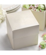 Two Piece Cupcake Boxes in Ivory Shimmer - 4x4x4 - Pack of 50 - $69.95