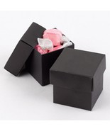 Black Two Piece Favor Boxes - 2x2x2 - Package of 50 - $54.95