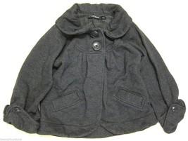 Womens Guess Jeans Fleece Sweatshirt Swing Coat in Dark Gray sz M - $29.69