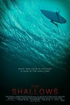 shallows - original d/s movie poster - 27x40 surfing - $26.00