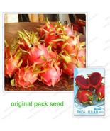 Inal pack 15 seeds pack red pitaya seeds red dragon fruit red flesh dragon fruit seeds thumbtall