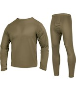 Coyote Brown Silk Weight Thermals Gen III ECWCS Underwear Shirt and Pant... - $36.99+