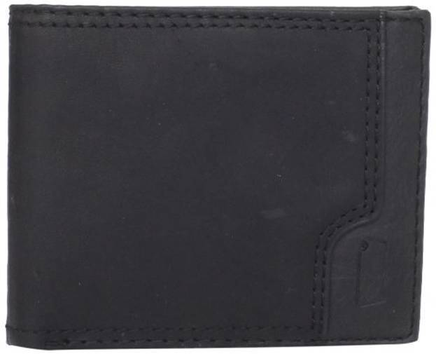 NEW NWT LEVI'S MEN'S PREMIUM LEATHER CREDIT CARD WALLET BILLFOLD BLACK 31LV2206