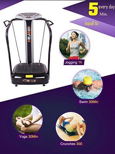 merax vibration platform slim fitness machine