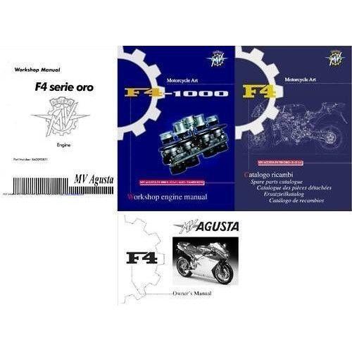 MV Agusta F4 Repair Service Repair Workshop & Parts Manual CD