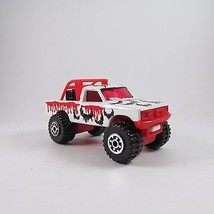 1981 4x4 Open Back Pickup Truck Matchbox Car 1:64 Bat Theme White Black ... - $8.59