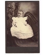 Child in White Lace Dress Elegant Victorian Chair Cabinet Card Neidhardt Chicago - $14.01