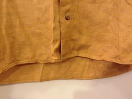 Ann Taylor Women's Size M Utility Shirt Button-Down 100% Linen Mustard Yellow image 5