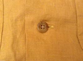 Ann Taylor Women's Size M Utility Shirt Button-Down 100% Linen Mustard Yellow image 8