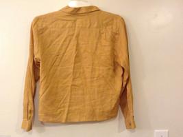 Ann Taylor Women's Size M Utility Shirt Button-Down 100% Linen Mustard Yellow image 6