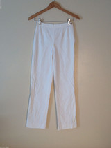 Michael Kors womens white linen dress pants side zipper Size 2