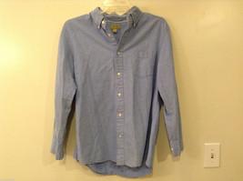 Sonoma Men's Size L Blue Oxford Cloth Button-Front Shirt OCBD Button-Down Collar