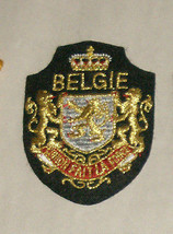 "Belgie Fait La Force 3"" Embroidered Sewn World Travel Patch Free Shipping USA - $13.78"