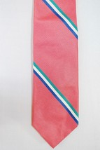 Bert Pulitzer Men's Tie Striped Necktie - Salmon Pink Blue Green - 100% ... - €19,94 EUR