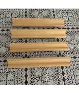 Set of Four Wooden Scrabble Letter Holder Racks 7 Inch  For Dog Rescue C... - £5.79 GBP