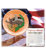 Colorized Vietnam Veterans National Medal - Huey Helicopter Bronze - 198... - $24.95