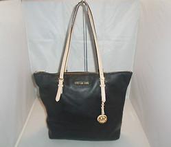 Michael Kors Handbag Jet Set Item Large Leather N/S Top Zip Tote $258 Black - $99.99