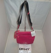 DKNY Handbag Flat Nylon Cross-Body Messenger, Shoulder Bag, Purse $145 Magenta - $69.99