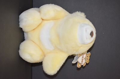 "Gund Pastel Yellow Plush Stuffed Snuffles Bear 9"" NEW  #2170"