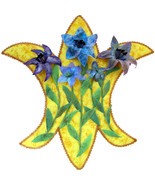 Fleur de Lis: Quilted Art Wall Hanging - $395.00