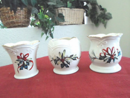 Set of 3 Lenox Christmas Winter Greetings Candle Holders - $24.99