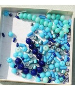 Blue Gemstone, Glass, Acrylic Bead Lot - 50+ -  Jewelry Making Supplies - £3.13 GBP
