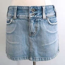 American Eagle Outfitters size 2 stonewash blue slightly distressed denim skirt - $12.99
