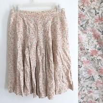 Liz Claiborne size 6 pink floral knee length loose flowy pleaded shorts ... - $9.99