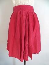 Express size 9 pink flowy 100% Silk high waist very lightweight a-line s... - $12.99