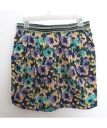 H&M size US 8 / EUR 38 colorful floral print knee length skirt with pock... - $19.99