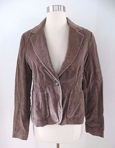 Gap women's size 8 taupe beige velour velvet-like blazer jacket - SMALL ... - $12.99