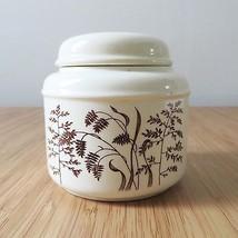 Vintage J & G Meakin Windswept England brown wheat graphic ivory sugar j... - $18.50