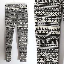 NEW NWT H&M women's size US 4 EUR 34 black ivory white geometric skinny pants - $19.95