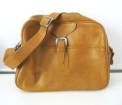 Vintage retro mustard yellow Samsonite Caribbea overnight travel bag luggage - $49.99