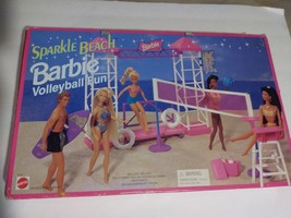 Barbie Sparkle Beach Volleyball Fun Play Set Mattel ArcoToys 1995 - $179.99
