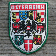 OSTERREICH Vintage Patch Travel AUSTRIA Ski Hiking Screenprint Skiing Felt - $9.70
