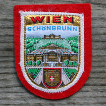 WIEN Vintage Travel Patch AUSTRIA Ski Hiking Metallic Schönbrunn Palace - $14.46
