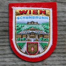 WIEN Vintage Travel Patch AUSTRIA Ski Hiking Metallic Schönbrunn Palace - $14.46