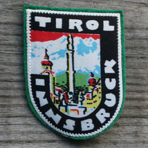 TIROL Vintage Ski Patch AUSTRIA Travel TYROL Skiing INNSBRUCK Screenprint - $8.75