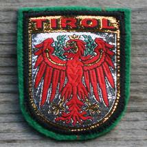 TIROL Vintage Ski Patch AUSTRIA Travel TYROL Green Felt Metallic Skiing ... - $8.75
