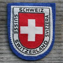 SWITZERLAND Early Vintage Ski Patch Travel Felt SWISS CROSS Schweiz Suisse - $11.60