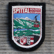 SPITTAL Vintage Ski Patch Travel CARINTHIA Skiing Austria Goldeck Seilbahn - $17.37