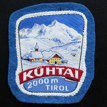 KUHTAI 60's Vintage Ski Patch AUSTRIA Travel TIROL Felt Skiing Hiking In... - $16.40