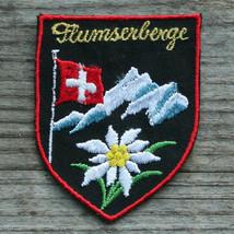 FLUMSERBERG VIntage Ski Patch SWITZERLAND Travel Skiing Hiking St Gallen - $12.55