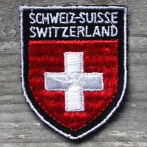 SWITZERLAND VIntage Ski Patch Travel Skiing Hiking SUISSE SCHWEIZ Cloth ... - $12.55